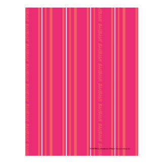 Thin Stripes Magenta Postcard