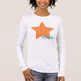 Thin Stripes Orange 4 Long Sleeve T-Shirt