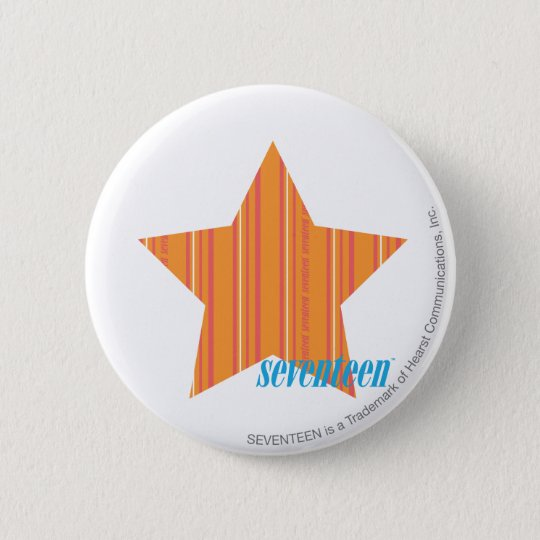 Thin Stripes Orange 4 Pinback Button