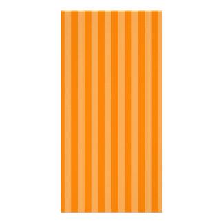 Thin Stripes - Orange and Dark Orange Card
