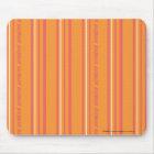 Thin Stripes Orange Mouse Pad