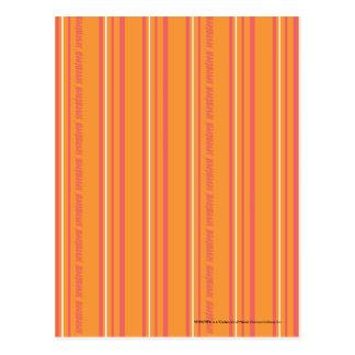 Thin Stripes Orange Postcard
