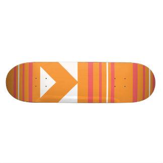 Thin Stripes  Orange Skate Board Deck