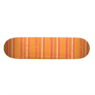 Thin Stripes Orange Skate Board Decks