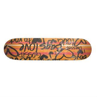 Thin Stripes Orange Skate Boards
