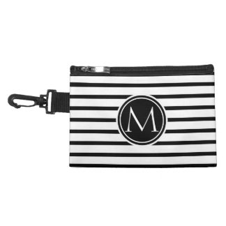Thin Stripes Pattern and Monogram Accessory Bags