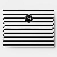 Thin Stripes Pattern and Monogram Envelope