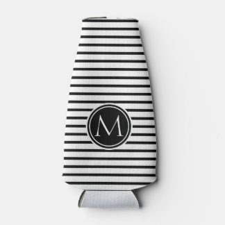 Thin Stripes Pattern Bottle Cooler