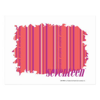 Thin Stripes Pink 2 Postcard