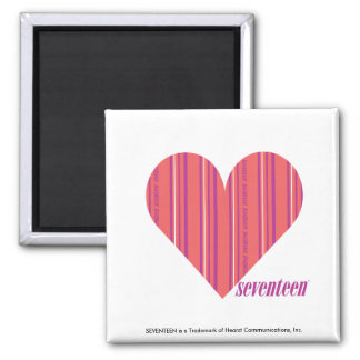 Thin Stripes Pink 3 Magnet