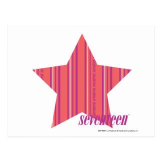 Thin Stripes Pink 4 Postcards