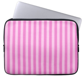 Thin Stripes - Pink and Dark Pink Laptop Sleeve