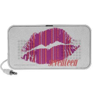 Thin Stripes Pink Lips Travelling Speaker