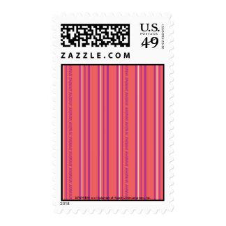 Thin Stripes Pink Postage Stamp