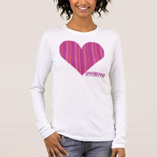 Thin Stripes Purple 4 Long Sleeve T-Shirt
