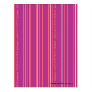 Thin Stripes Purple Postcard