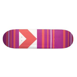Thin Stripes Purple Skate Deck