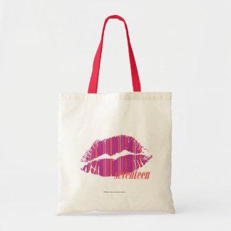 Thin Stripes Purple Tote Bag