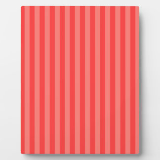 Thin Stripes - Red and Light Red Plaque
