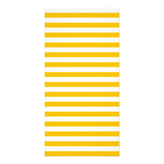 Thin Stripes - White and Amber Card