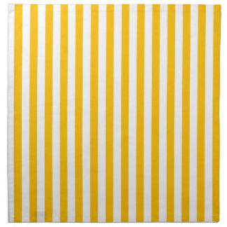 Thin Stripes - White and Amber Napkin