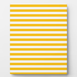 Thin Stripes - White and Amber Plaque