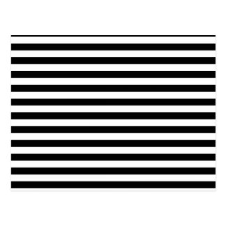 Thin Stripes - White and Black Postcard