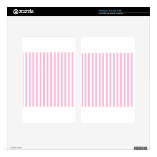Thin Stripes - White and Cotton Candy Kindle Fire Decals
