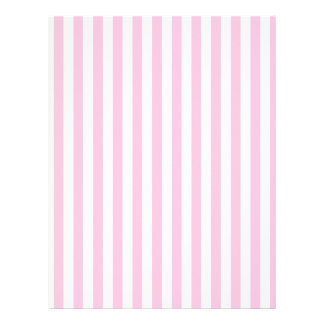 Thin Stripes - White and Cotton Candy Letterhead