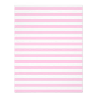 Thin Stripes - White and Cotton Candy Pink Letterhead