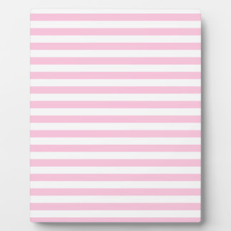 Thin Stripes - White and Cotton Candy Pink Plaque