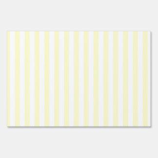 Thin Stripes - White and Cream Yard Sign