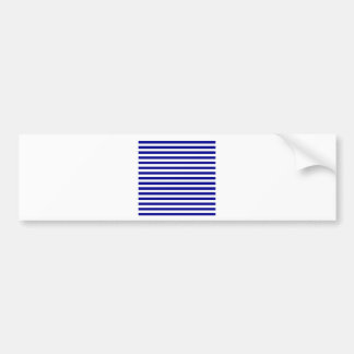 Thin Stripes - White and Dark Blue Bumper Sticker