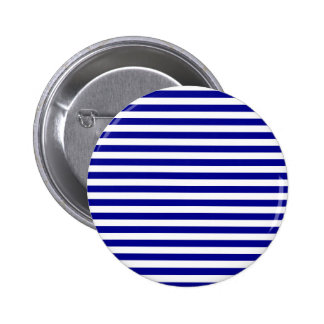 Thin Stripes - White and Dark Blue Button