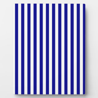 Thin Stripes - White and Dark Blue Plaque