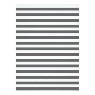 Thin Stripes - White and Dark Gray Card