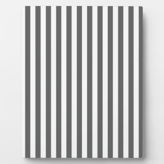 Thin Stripes - White and Dark Gray Plaque