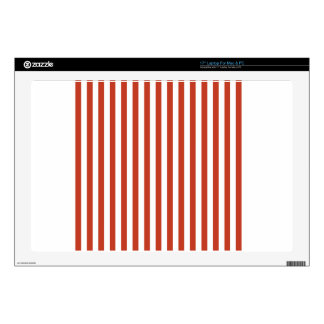 Thin Stripes - White and Dark Pastel Red Skin For Laptop