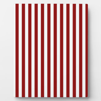 Thin Stripes - White and Dark Red Plaque