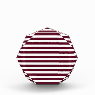 Thin Stripes - White and Dark Scarlet Acrylic Award
