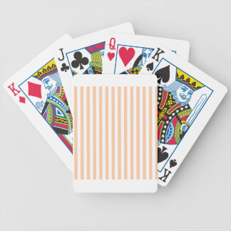 Thin Stripes - White and Deep Peach Bicycle Playing Cards