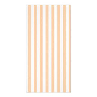 Thin Stripes - White and Deep Peach Card