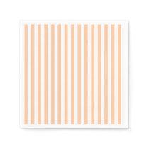 Thin Stripes - White and Deep Peach Paper Napkin