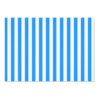Thin Stripes - White and Dodger Blue Card