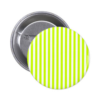 Thin Stripes - White and Fluorescent Yellow Button