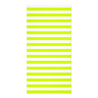 Thin Stripes - White and Fluorescent Yellow Card