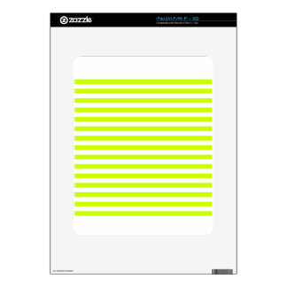 Thin Stripes - White and Fluorescent Yellow Decals For The iPad