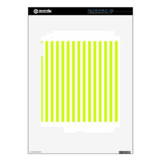 Thin Stripes - White and Fluorescent Yellow iPad 2 Skin