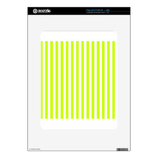 Thin Stripes - White and Fluorescent Yellow iPad Decal