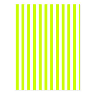Thin Stripes - White and Fluorescent Yellow Postcard